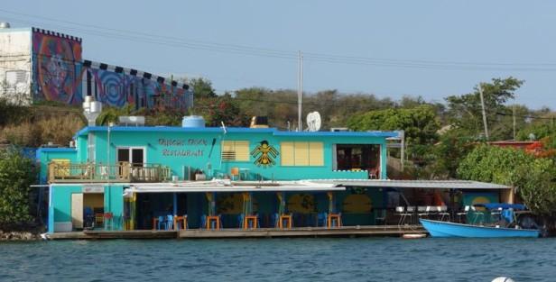 The Dinghy Dock restaurant in Dewey on Culebra.  (Photo Credit:  Laura Ward)